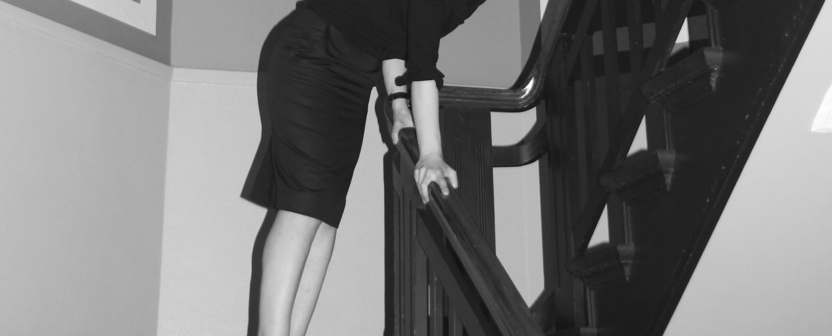Ein Rock auf der Treppe