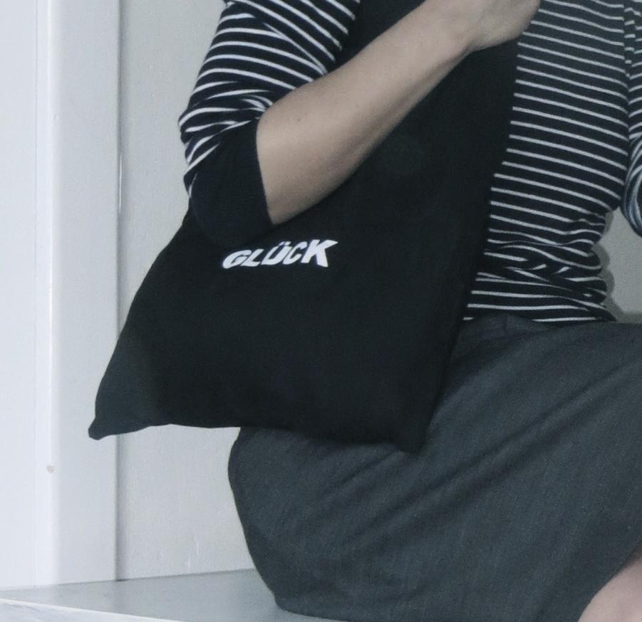 sanderbasics Tasche mit Aufschrift Glück